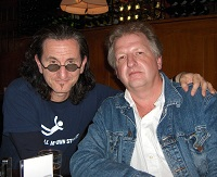 Kees en Geddy Lee (Rush)